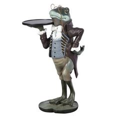 frog butler statues | Our exclusive Frog side table, often thought of as a symbol of luck or ...