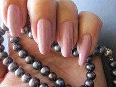 My natural nails with Lumene Gel Effect 27 Fresh Morning. www.funkyandfifty.blogspot.com # Lumene Gel Effect