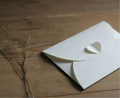 Heart clasp envelopes   175mm125mm  approx 5'' x by rawsupplies, $3.50
