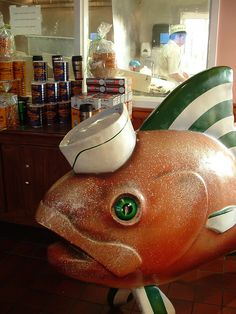 Cafe du Monde fish.  This has to have been moved!  I swear I have never seen it!