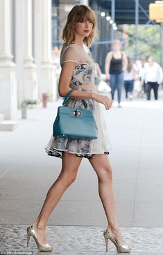 Lessons learned: Swift, leaving the gym in a dressy ensemble on Wednesday, has recently ma...