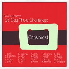 Challenge Accepted!!!! -- Christmas photo challenge