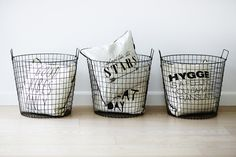Søstrene Grene - stylish baskets for the 2014 autumn collection Metal Baskets, Nordic Design, Best Wordpress Themes, Interior Architecture, Interior Design, Habitats, Interior Inspiration, Cool Designs, Sweet Home