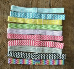 CHEVRON Stripes Foldover Elastic by RyleesCollection on Etsy, $2.00
