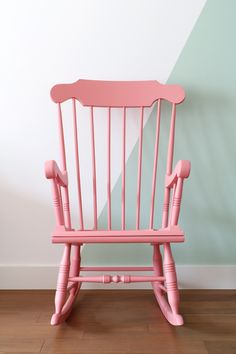 MY ATTIC SHOP / Vintage / Pink Rocking Chair / Schommelstoel  Www.entermyattic.com