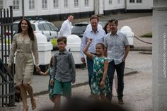 Crown Prince Family received Rider Association parade ring in Gråsten, 19/07/2015