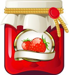 Strawberry jam vector image on VectorStock Strawberry Pictures, Strawberry Jam, Kitchen Clipart, Food Clipart, Scrapbook Quotes, Jam And Jelly, Food Packaging Design, Jam Jar, Sketches