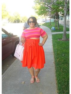 Nikki Minaj, Plus Size Blog, Forever21, JIBRI.  Love the high waist and color on this one.
