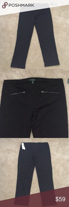 Ralph Lauren Black Pants New with tags, inseam 29.5 inches Lauren Ralph Lauren Pants
