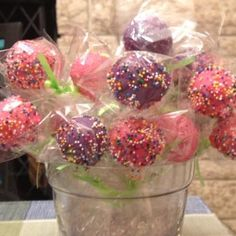 Kayleigh's 5th Birthday Cake Pops!! Pretty & yummy!!