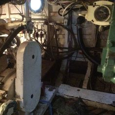 Today's project is to crawl back in there and replace the water pump that feeds water to two of the A/C units #boatlife #chriscraft #nauticinderella http://ift.tt/1NlLhvg
