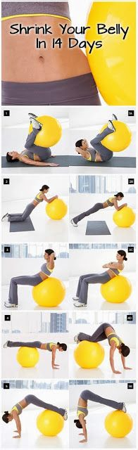 Shrink Your Belly In 14 Days! Mom we gotta pump up our exercise ball! @Natalie Jost Gill