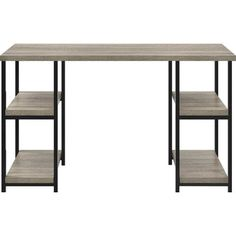 Altra Furniture Altra Elmwood Double Pedestal Desk, Sonoma Oak