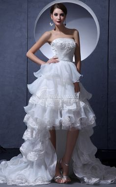 Discount Straight Across Organza , Lace A Line Wedding Dresses