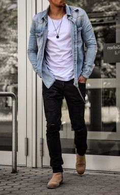Trendy Mens Fashion, Stylish Mens Outfits, Stylish Clothes For Men, Men's Casual Fashion, Mens Fall Outfits, Nice Outfits For Men, Nice Casual Outfits For Men, Casual Guy, Mens Dress Outfits
