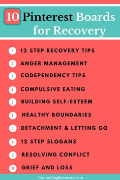 Codependency recovery tips