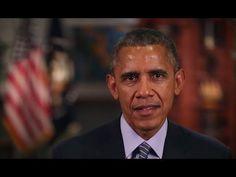 ▶ President Obama's Message at the 2015 GRAMMY Awards  Nós podemos criar uma cultura em que toda e qualquer forma de violência física seja inadmissível, uma abominação. Seja contra mulheres, contra homens, estrangeiros, religiosos, retos ou tortos. Não importa que haja alguma hipocrisia na campanha vinda dos EUA.
