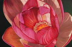 "ღღ Original art for sale at UGallery.com | Lily by Venus Winston | $1,200 | acrylic painting | 24"" h x 36"" w 