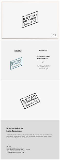 Pre-made Retro Logo Template  https://creativemarket.com/MeeraG/89160-Pre-made-Retro-Logo-Template?u=MeeraG&utm_source=Link&utm_medium=CM+Social+Share&utm_campaign=Product+Social+Share&utm_content=Pre-made+Retro+Logo+Template+~+Logo+Templates+on+Creative+Market