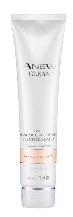 Avon Anew Clean 2 en 1 Mascarilla de Limpieza: Limpia mientras mejora la hidratación de la piel hasta por 8 hs. Avon, Shampoo, Cleaning, Bottle, Beauty, Face Cleaning, Fur, Flask, Home Cleaning