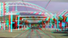 https://flic.kr/p/G1WZGp | Station Blaak Rotterdam 3D | anaglyph stereo red/cyan