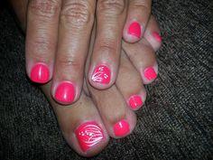 Summer fingers and toes! Summer fingers and toes! Pedicure Designs, Toe Nail Designs, Nail Polish Designs, Art Designs, French Nails, Summer Toe Nails, Great Nails, Colorful Nail Designs, Super Nails