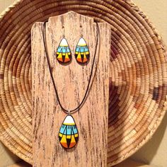 Excited to share the latest addition to my shop: Southwest Native American Gourd Necklace Pendant and earring set Wooden Necklace, Wood Earrings, Pine Needle Crafts, Miniature Dolls, Miniature Houses, Teracotta Jewellery, Egypt Jewelry, Terracotta Jewellery Designs, Reborn Dolls