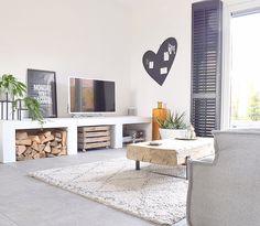 Ilse's Scandinavian style house in Arnhem Home Living Room, Interior Design Living Room, Living Room Decor, Living Spaces, Bedroom Decor, Living Room Inspiration, Interior Inspiration, Deco Paris, Living Tv