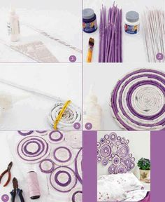 How to make beautiful interior wall decor with used newspapers step by step DIY tutorial instructions, How to, how to do, diy instructions, crafts, do it yourself, diy website, art project ideas