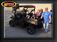 Thanks to Nolan, Hayden, Bella, Kimberly and Mike Batton from Ellisville MS for getting a 2017 Polaris Ranger XP 900. @HattiesburgCycles