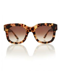 Brown Dominaty Square Frame Acetate Sunglasses