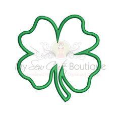 Four Leaf Clover Applique Design  Machine by mysewcuteboutique