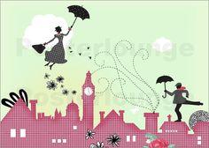 Mary Poppins London Bilder: Poster von Elisandra bei Posterlounge.de
