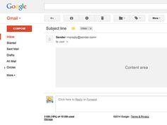 Gmail UI PSD Mockup