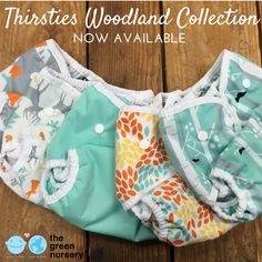We're loving the NEW ‪#‎Woodland‬ Collection from Thirsties. <3 Available NOW in store and online! ‪#‎thirsties‬ ‪#‎clothdiapers