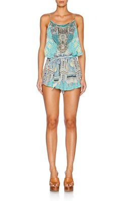 Camilla | Shoestring Strap Playsuit
