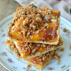Buttery pie crust is layered with cream cheese and fresh peaches, and then topped with crumbly oats, pecans and brown sugar to make the most fun pie you can eat with your hands! Peach Crumble Pie Bars are one of our favorite ways to use fresh peaches! And so my fascination with peaches continues. In truth...Read More »