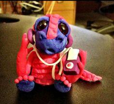 Sculpey clay iPod dragon