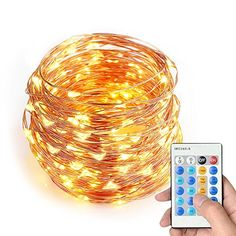 Milocos 33 Ft 100 LEDs String Lights with Remote ControlWaterproof String Lights Party Wedding Christmas Lights for IndoorOutdoor Home Garden Decorations Warm White *** Learn more by visiting the image link.