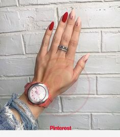 gorgeous emerald green nail art designs - page 23 Nails pretty nails Green Nail Art, Green Nails, Pink Nails, Red Tip Nails, Red Black Nails, Beige Nails, Green Art, Cute Acrylic Nails, Acrylic Nail Designs
