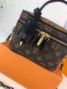 VANITY PM M45165 | Theluxinbox Lv Tote, Nicolas Ghesquiere, City Bag, Leather Chain, Studs, Vanity, Monogram, Louis Vuitton, Bags