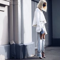 #FBF to Sydney #MBFWA snapped by @le21eme - top by @cmeocollective + jeans by @thpshop.co