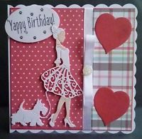Walking The Scottie Dog 7x7in scallop card