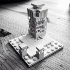 Lego Architecture Studio creation (my 13 yr old son's first design after opening the box)