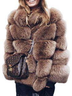 Jackets & Coats Faux Fur European And American Imitation Fur Coat Jacket Female Models Falling Hair Long Paragraph Fur Fashion Casual Round Neck Fur Coat Clients First