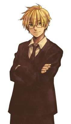 Hetalia- England with glasses. The right glasses make everyone look better. :)