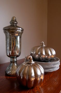 Vintage-Style Faux Mercury Glass Urn