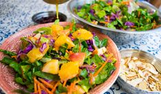 Orange Salad with Apple & Cranberries