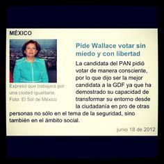 "La Candidata de PAN ""Wallace"""