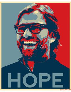 'Klopp gives Hope Liverpool Design' Poster by Fan Art Liverpool Fc, Give Hope, European Football, Arsenal Fc, Sports Art, Manchester City, Sell Your Art, Premier League, Fernando Torres